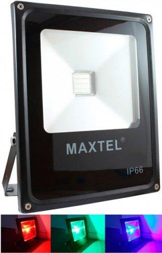 Refletor Holofote LED RGB 20W IP66 com Controle Remoto