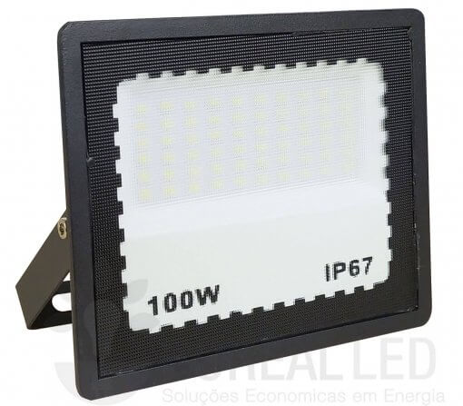 Refletor LED 100W Holofote Bivolt Branco Frio IP65 Externo