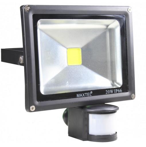 Refletor Led 20W Branco Frio Sensor de Presença IP66
