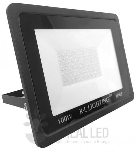 Refletor LED SMD 100W Verde Bivolt IP66 10.000lm Ângulo 120º