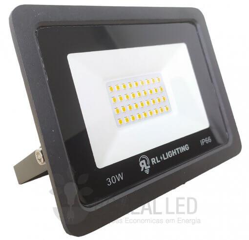Refletor LED SMD 30W Branco Quente Bivolt IP66 3.000lm Ângulo 120º