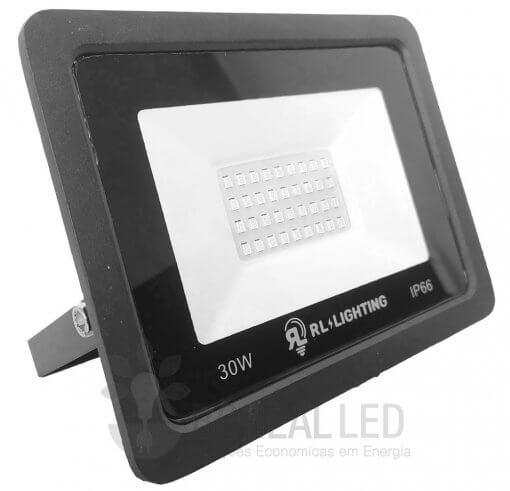 Refletor LED SMD 30W Verde Bivolt IP66 3.000lm Ângulo 120º