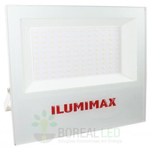 Refletor Micro LED Slim 100W IP65 Acabamento Branco Bivolt Ilumimax