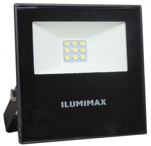 Refletor Micro LED Slim 10W IP65 Preto Bivolt Ilumimax