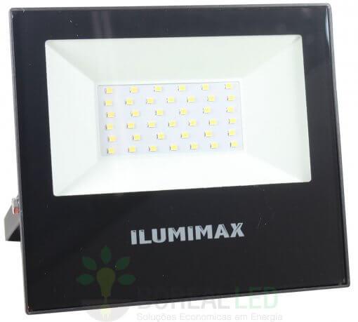Refletor Micro LED Slim 30W IP65 Preto Bivolt Ilumimax