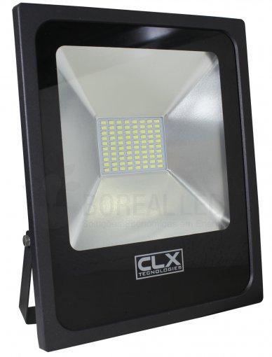 Refletor MicroLED Slim 50W IP65 Branco Frio