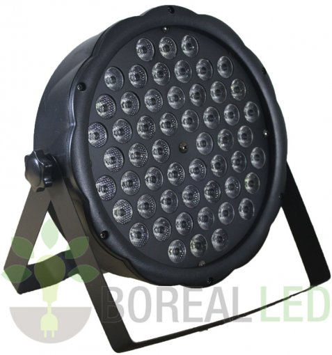Refletor Slim Led Par 64 Rgbw 54 Leds De 3w Dmx Digital