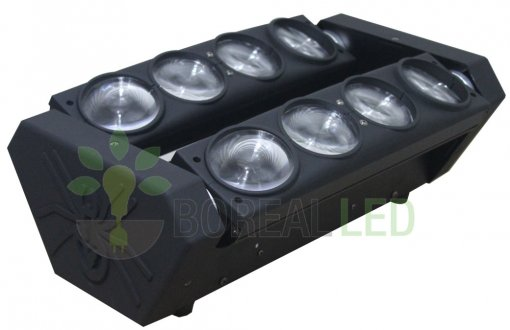Spider Moving Beam 8 Led S De 12w Quadriled Rgbw Dmx Bivolt