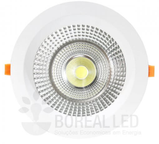 Spot COB Downlight 45W Redondo Luz Branco Frio 6500K Goodlighting