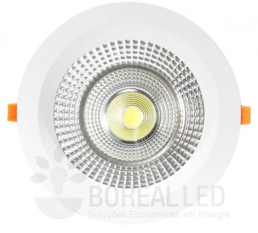 Spot COB Downlight 45W Redondo Luz Branco Frio 6500K Goodlighting