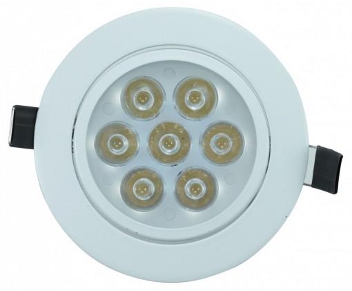 Spot de Embutir LED 7W Redondo Borda Branca