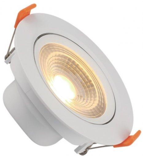 Spot Downlight LED 3W Embutir Redondo Direcionável Branco Quente