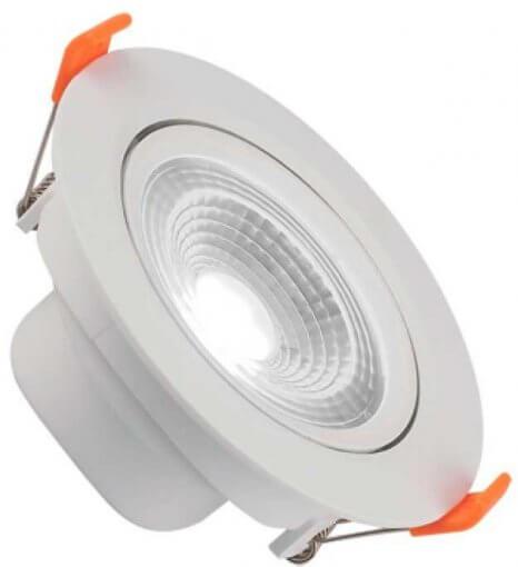 Spot Downlight LED 5W Embutir Redondo Direcionável Luz Fria ROYA