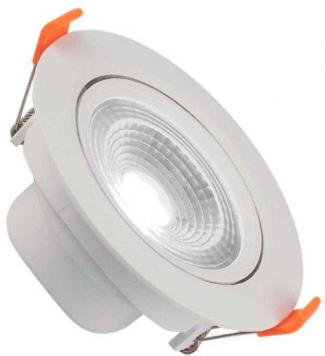 Spot Downlight LED 7W Embutir Redondo Direcionável Branco Frio