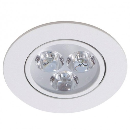 Spot LED 3w redondo borda branca Power XL