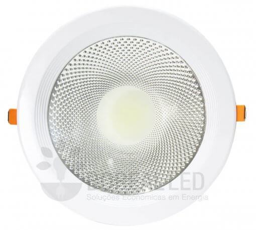 Spot LED COB Downlight 30W Embutir Redondo 22cm