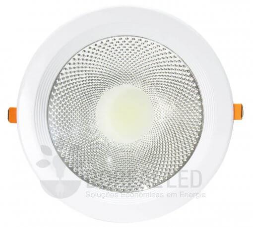 Spot LED COB Downlight 30W Embutir Redondo 22cm