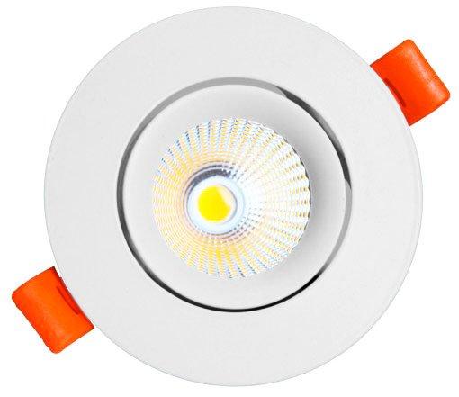 Spot LED COB Embutir Redondo 3W Direcionável Bivolt Maxtel