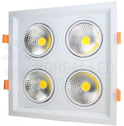 Spot LED Duplo Quadrado 10W/40W LED Face Recuada