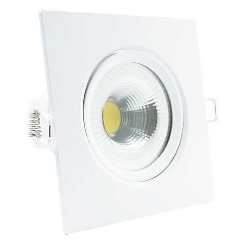 Spot LED Embutir 7W Quadrado 11x11cm Direcionavel Branco Neutro 4000K