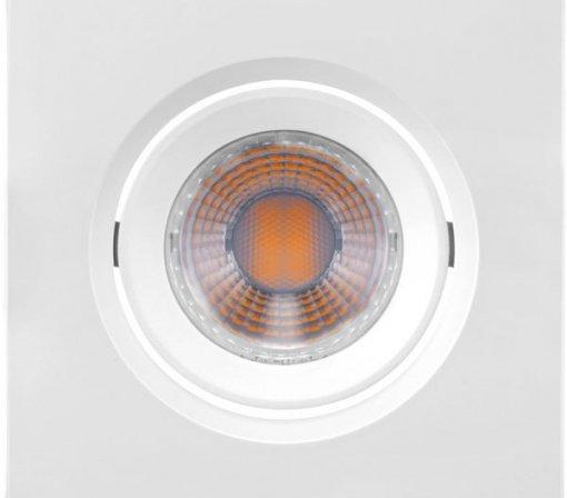 Spot LED Embutir Quadrado 4,5W MR16 Bivolt 2700K Mini Dicróica 350 LM
