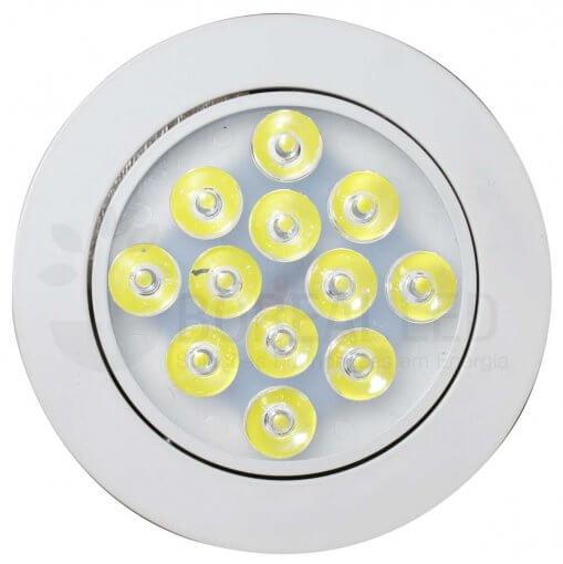 Spot LED Embutir 12W Redondo Direcionável Luz Branco Frio