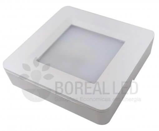 Spot LED Movéis 2W LED Quadrado Sobrepor 3000K Initial