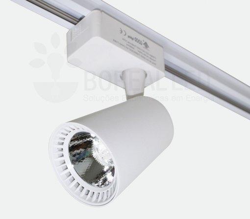 Spot Para Trilho LED 12W Luz Branco Frio 6500K Branco Bivolt