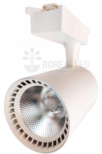 Spot Para Trilho LED 18W Luz Branco Quente 3000K Branco Bivolt
