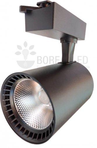 Spot Para Trilho LED 18W Luz Branco Quente 3000K Preto Bivolt
