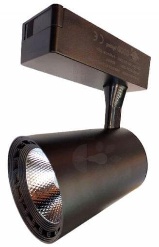 Spot Para Trilho LED 20W Luz Branco Frio 6500K Preto Bivolt