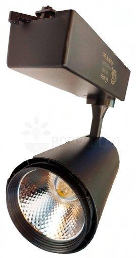 Spot Para Trilho LED 30W Luz Branco Quente 3000K Preto Bivolt