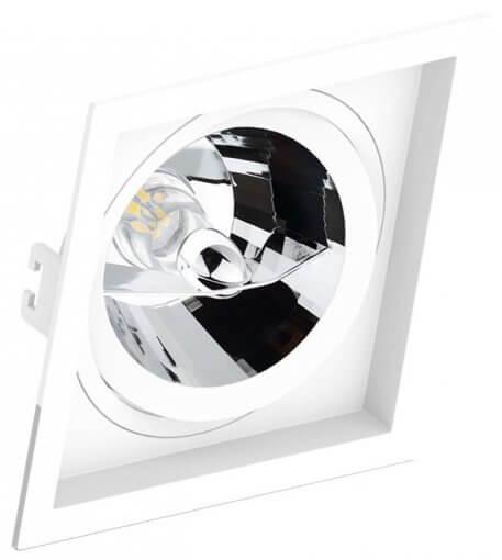 Spot/Luminária Embutir Recuado Quadrado AR111 GU10 17X17cm Orbital