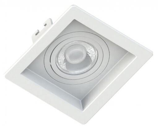 Spot/Luminária Embutir Recuado Quadrado PAR20 E27 13X13cm Orbital