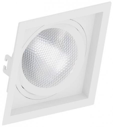 Spot/Luminária Embutir Recuado Quadrado PAR30 E27 17X17cm Orbital