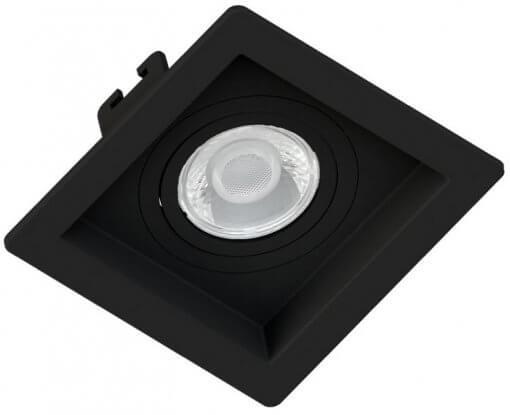 Spot/Luminária Embutir Recuado Quadrado Preto Dicroica MR16 GU10 10X10cm Orbital