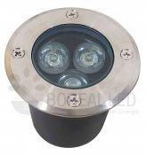 Imagem - Balizador Embutir Solo Chão 3W LED Biv Branco Frio cód: SOLO-3W-BF-ATOP