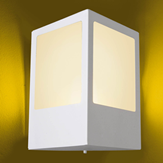Arandela Aluminio Quadrada P/ 1 Lâmpada E27 Ideal Iluminação 284