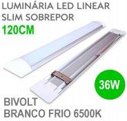 Imagem - Lâmpada LED Linear Tubular 36W 120cm Sobrepor Luz Branco Frio 6500K cód: LINEAR-120CM-BF
