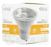 Dicroica LED Dimerizável 7W MR16 2700K Bivolt Opus Branco Quente