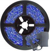 Imagem - Fita LED 2835 Azul 5 Metros 300 Leds 12V IP20 S/ Silicone + Fonte cód: FITA2835IP20AZULFONTE