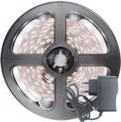 Imagem - Fita LED 2835 Branco Frio 300 Leds 5 Metros 12V IP65 C/ Silicone + Fonte cód: BFL-3528BF-FONTE
