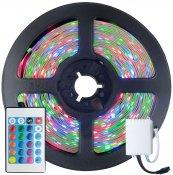 Imagem - Fita LED 2835 RGB Colorida 5m 300 LEDS IP20 + Controle cód: FITA-2835-RGB-IP20