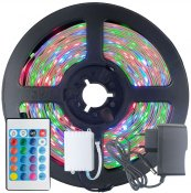 Imagem - Fita LED 2835 RGB Colorida 5m 300 LEDS IP20 + Controle + Fonte cód: FITA-2835-RGB-IP20-FONTE