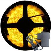 Imagem - Fita LED 3528 Âmbar 300 Leds 5 Metros 12V C/ Silicone + Fonte cód: BFL-3528-AMBAR-FONTE