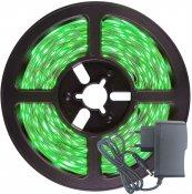 Imagem - Fita LED 3528 Verde 300 Leds 5 Metros 12V S/ Silicone + Fonte cód: BFL-3528-VERDE-FONTE-IP20