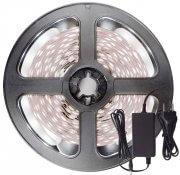 Imagem - Fita LED 5050 Branco Frio 300 Leds 5 Metros 12V IP20 + Fonte cód: BFL-5050-BF-FONTE-IP20