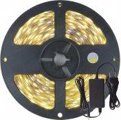 Imagem - Fita LED 5050 Branco Neutro 300 Leds 5 Metros 12V IP20 + Fonte cód: FITA5050NEUTROIP20FONTE