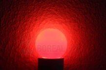 Imagem - Lâmpada LED Bolinha 1W Vermelho E27 127V cód: BLBP-1W-127VVM
