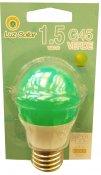 Imagem - Lâmpada LED Bolinha G45 1.5W Verde E27 Bivolt Marca Luz Sollar cód: 2861